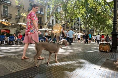 Grace en las Ramblas de Barcelona
