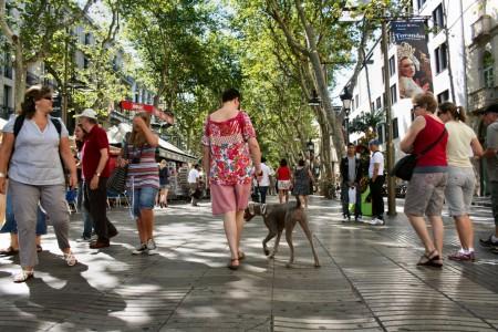 De paseo por las Ramblas de Barcelona